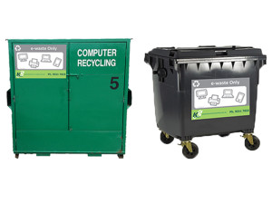 e-waste recycling bins