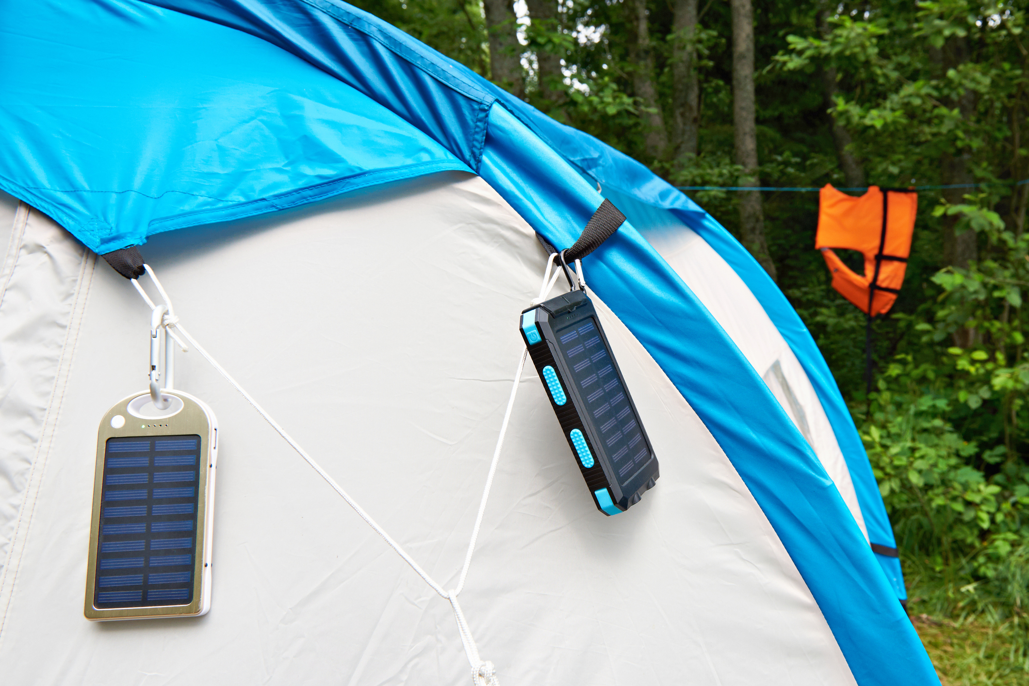 environmentally friendly camping - solar panels