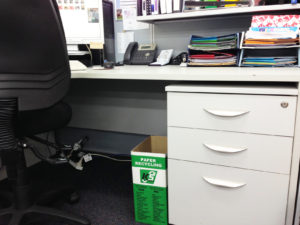 green resolutions - under desk bin